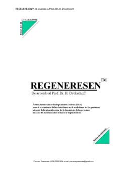regeneresen™ de acuerdo al prof. dr. h. d