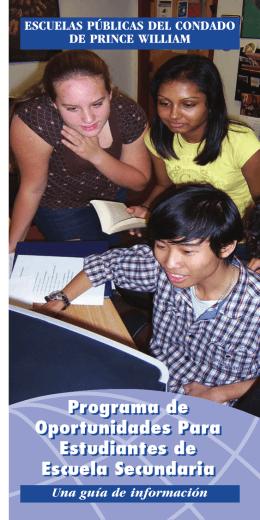 Programa de Oportunidades Para Estudiantes de Escuela