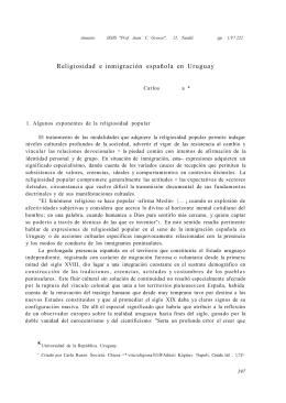 Religiosidad e inmigración española en Uruguay