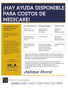 ¡HAY AYUDA DISPONIBLE PARA COSTOS DE MEDICARE!
