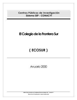 Anuario ECOSUR 2000
