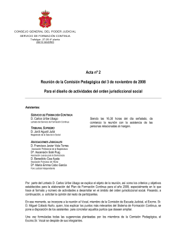 Actas 2008 - Jueces para la Democracia