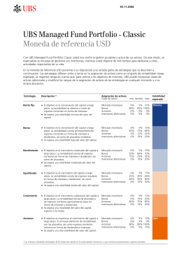 AB UBS Managed Fund Portfolio - Classic Moneda de referencia USD