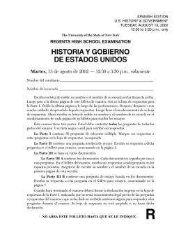 HISTORIA Y GOBIERNO DE ESTADOS UNIDOS Martes
