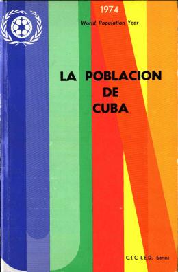 LA POBLACIÓN DE CUBA