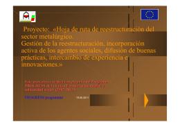 Proyecto: «Hoja de ruta de reestructuración del sector metalúrgico