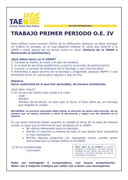 TRABAJO PRIMER PERIODO O.E. IV
