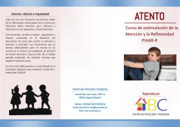 """Descargar """"Folleto Atento"""" - Centro ABC Psicología y Pedagogía"""