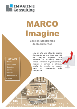 Folleto Imagine MARCO