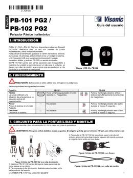 D-305495 PB-101/102 Guía del usuario
