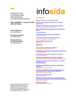 Infosida Edición N° 3 - Ciudad Autónoma de Buenos Aires