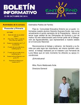 Para la Comunidad Educativa - Comunidad Educativa Entorno