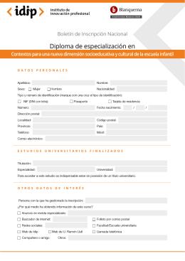Diploma de especialización en - IDIP | Instituto de Innovación