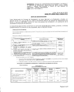 nota - Sistema de Contrataciones Estatales