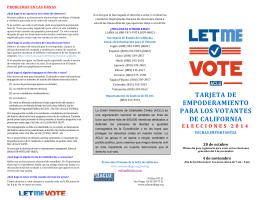 tarjeta de empoderamiento para los votantes de california