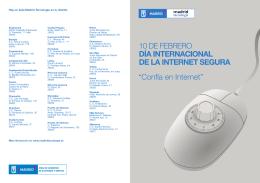 Contenido del folleto `Confía en Internet`