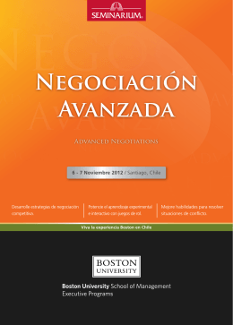 Negociación Avanzada