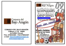 Folleto 2009-2010.pub - Comarca del Bajo Aragón