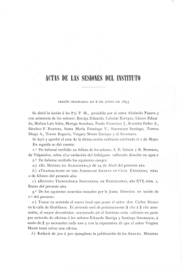 Actas de las sesiones del Instituto. [ 6 de Junio de 1893]