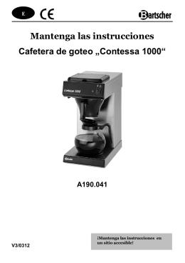 Mantenga las instrucciones Cafetera de goteo