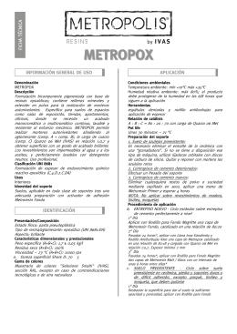 Ficha técnica METROPOX