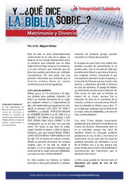 yqdlb matrimonio y divorcio - Ministerios Integridad & Sabiduría