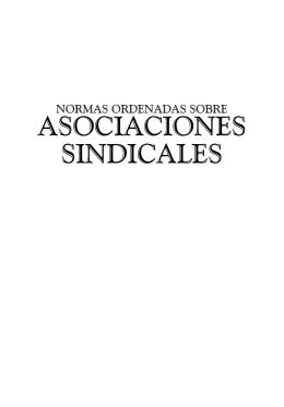 Normas Ordenadas sobre Asociaciones Sindicales