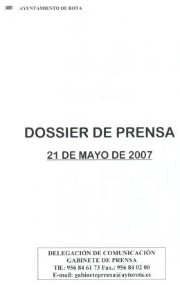 DOSSIER DE PRENSA - Ayuntamiento de Rota
