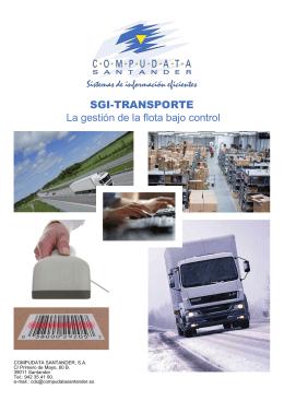 SGI-TRANSPORTE La gestión de la flota bajo control