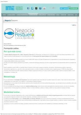 Negocio Pesquero - Clúster Marítimo Español