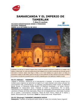 SAMARCANDA Y EL IMPERIO DE TAMERLAN
