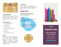 Plan de Estudios de la Licenciatura en Arquitectura.