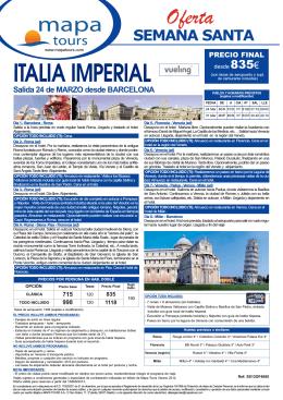 01-03-13 ITALIA IMPERIAL Semana Santa salida BCN desde