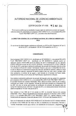 CERTIFICACIÓN N°4195 P13 HAY 2014