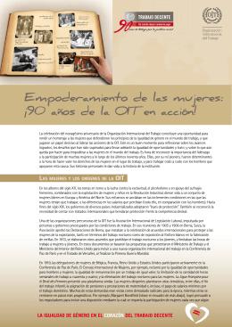 Empoderamiento de las mujeres: ¡90 años de la OIT en acción!