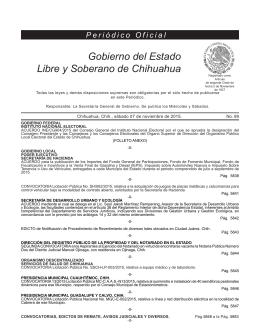 Periódico Oficial - Gobierno del Estado de Chihuahua