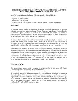estudio de la perforacin multilateral aplicado al campo cononaco