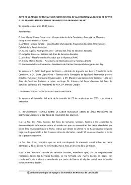 Acta de la reunión de la comisión de fecha 15 de enero 2014