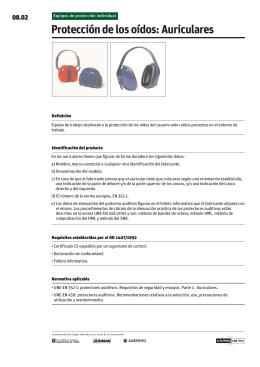 Protección de los oídos: Auriculares