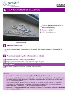 SALA DE EXPOSICIONES-CAJA DUERO