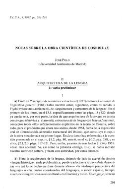 E.L.U.A., 8, 1992, pp: 201-210 NOTAS SOBRE LA OBRA