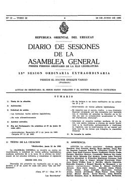 DIA·RIO 10E SESIONES -ASAMBLEA GENERAL