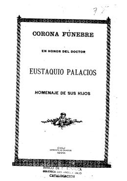 Corona fúnebre en honor del doctor Eustaquio Palacios