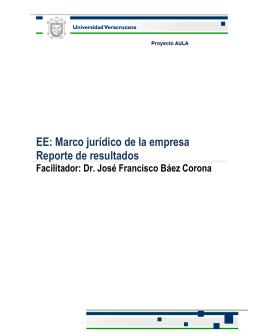 Reporte Báez - Universidad Veracruzana