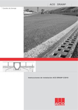 Instrucciones de Instalacion CANALES ACO DRAIN
