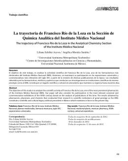 DE CIENCIAS FARMACÉUTICAS - Asociación Farmacéutica