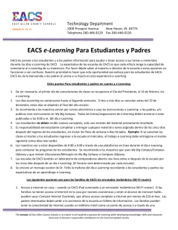 EACS e-Learning Para Estudiantes y Padres