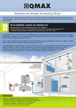 Sistemas de energía de backup Qmax