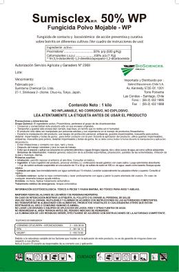 Sumisclex 50% WP - Servicio Agrícola y Ganadero