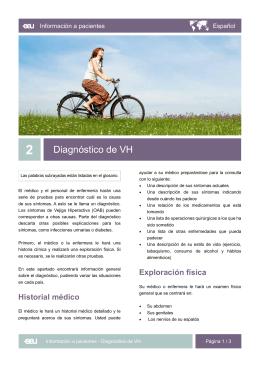 Diagnóstico de VH - EAU Patient Information